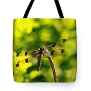 Dragonfly In Green Tote Bag