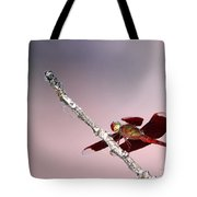 Dragonfly On A Pastel Sky Tote Bag