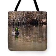 Drake In The Pond Tote Bag