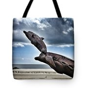 Dramatic Dolphins Tote Bag