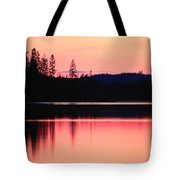 Dramatic Picture Of A Forest-edged Lake Tote Bag