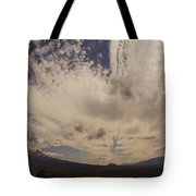 Dramatic Sky Over Mount Shasta Tote Bag