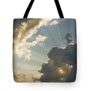 Dramatic Sunbeams And Storm Clouds Maine Photo Poster Print Tote Bag