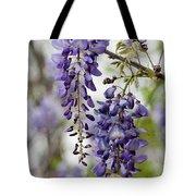 Draping Lavender Purple Wisteria Vines Tote Bag