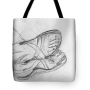 Drawing Class. Sandaled Feet Tote Bag