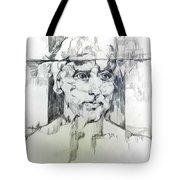Drawing Of A Man Tote Bag