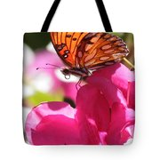 Dreaming Of Butterflies And Pink Flowers Tote Bag