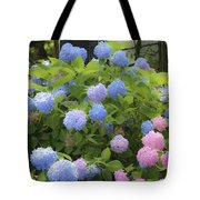 Dreamy Blue And Pink Hydrangeas Tote Bag