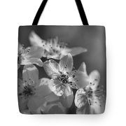Dreamy Spring Blossoms In Black And White Tote Bag