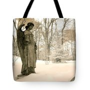 Dreamy Surreal Angel Sepia Nature Scene Tote Bag