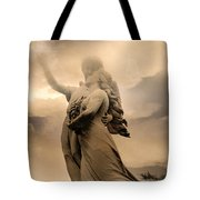 Dreamy Surreal Guardian Angels Ascent To Heaven Tote Bag