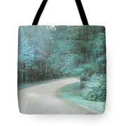 Dreamy Teal Aqua Blue Nature Trees Tote Bag