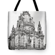 Dresden's Church Of Our Lady - Reminder Of Peace Tote Bag