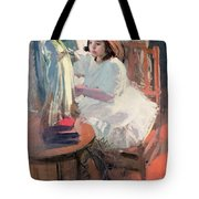 Dressing Her Doll Tote Bag by Claudio Castelucho