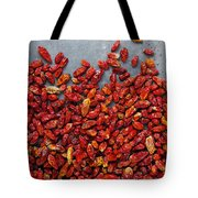 Dried Chili Peppers Tote Bag