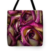 Dried Pink And White Roses Tote Bag