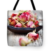 Dried Rose Buds Tote Bag