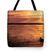 Driftwood At Sunset Tote Bag