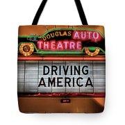 Driving America Douglas Auto Theatre Tote Bag