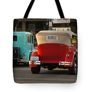 Driving Off Into History Tote Bag