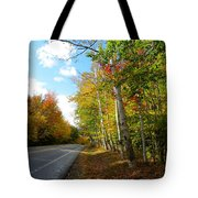 Driving Though The Birches Tote Bag