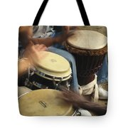 Drummers Of Varied Backgrounds Join Tote Bag