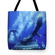 Dry Deck Shelter Rewmen Release Tote Bag by Michael Wood