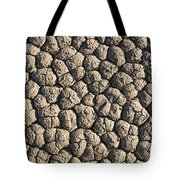Dry Mud Patterns On The Racetrack Tote Bag