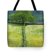 Dry Stone Wall And Lone Tree Tote Bag