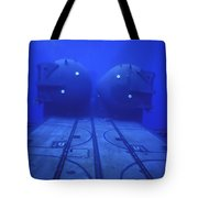 Dual Dry Deck Shelters Mounted Tote Bag by Michael Wood
