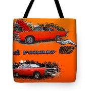 Dual Roadrunner Abstract Tote Bag