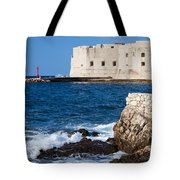 Dubrovnik Fortification And Bay Tote Bag