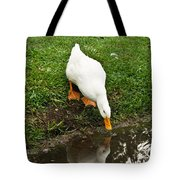 Duck And Refection Tote Bag