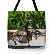 Duck And Run Tote Bag