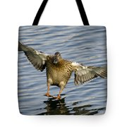 Duck Landing Tote Bag
