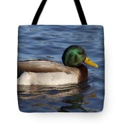 Duck On The Water Tote Bag