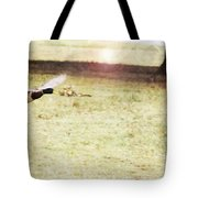 Duck Taking Off Tote Bag