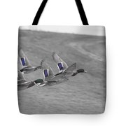 Ducks In Flight V1 Tote Bag