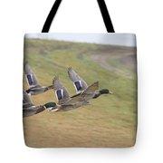 Ducks In Flight V3 Tote Bag
