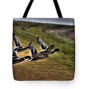 Ducks In Flight V5  Tote Bag