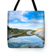 Dunes At The Beach Side During Morning  Tote Bag