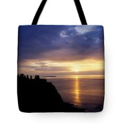 Dunluce Castle At Sunset, Co Antrim Tote Bag