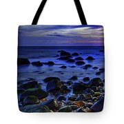Dusk At Montauk Point Tote Bag