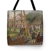 Dutch & Native American Trade Tote Bag