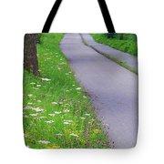 Dutch Bicycle Path - Digital Painting Tote Bag by Carol Groenen