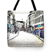 Dutch Shopping Street- Digital Art Tote Bag