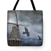 Dutch Windmill With Ravens Tote Bag