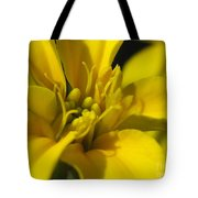 Dwarf French Marigold In Disco Yellow Tote Bag