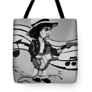 Dylan In Black And White Tote Bag