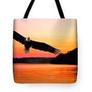 Eagle At Break Of Dawn Tote Bag